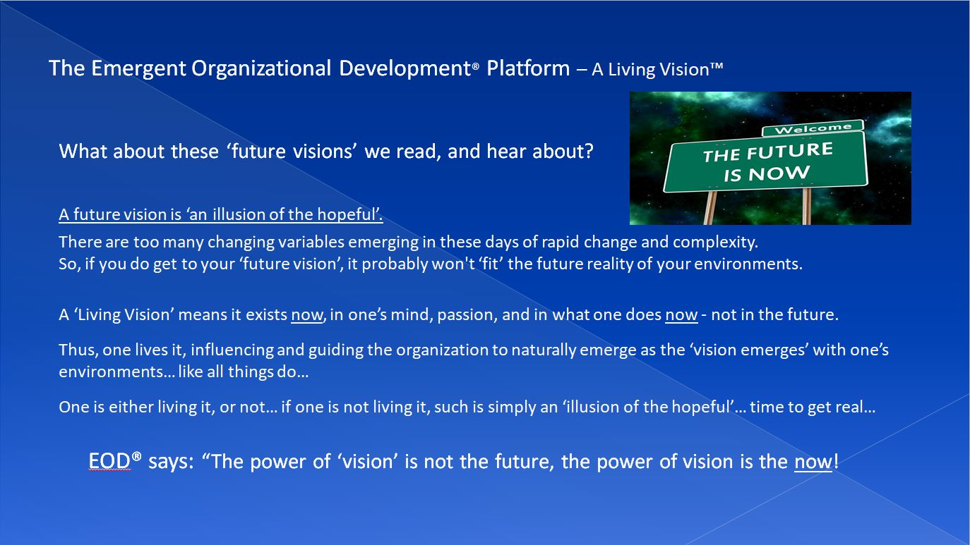 ON FUTURE VISIONS